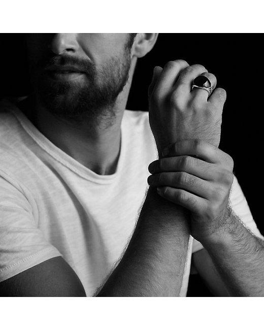 David Yurman | Chevron Signet Ring With Black Onyx for Men | Lyst