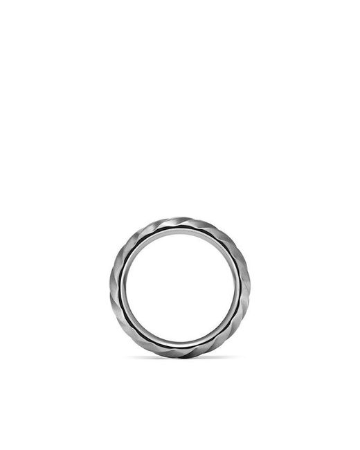 David Yurman | Modern Cable Wide Band Ring In Gray Titanium, 9mm for Men | Lyst