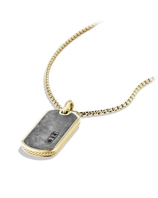 David Yurman - Metallic Meteorite Tag In 18k Gold for Men - Lyst