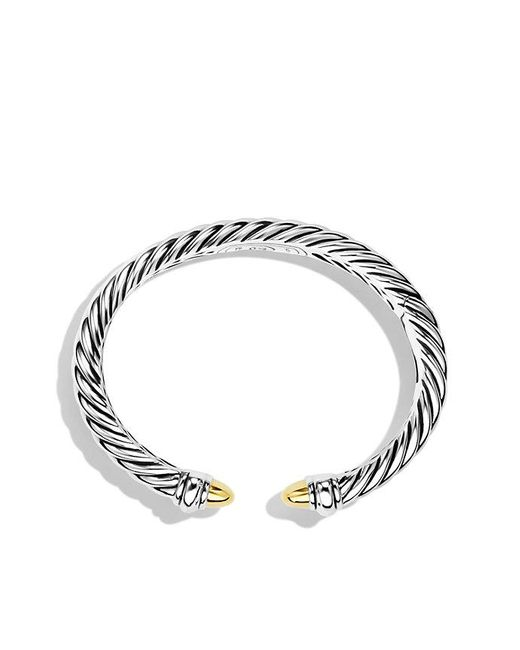 David Yurman | Metallic Sculpted Cable Bracelet With 18k Gold, 5mm | Lyst