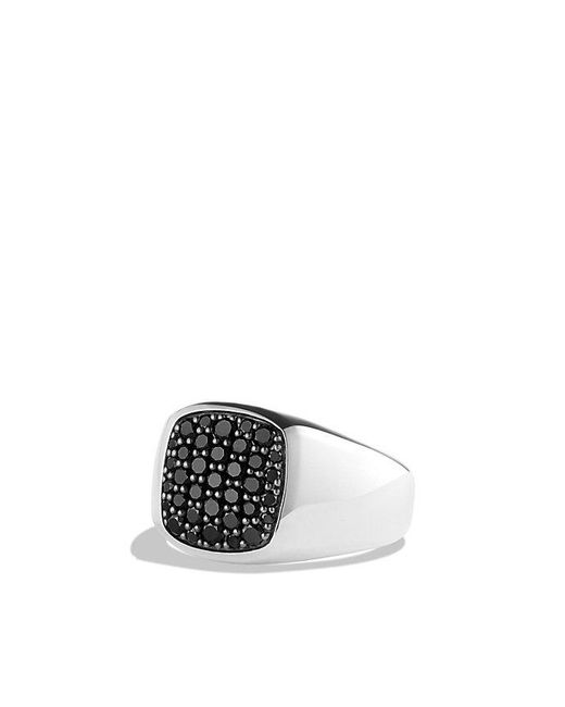David Yurman | Exotic Stone Signet Ring With Black Diamonds for Men | Lyst