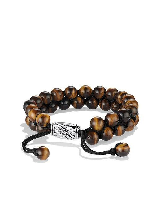 David Yurman | Multicolor Spiritual Beads Two-row Bracelet With Tiger's Eye | Lyst