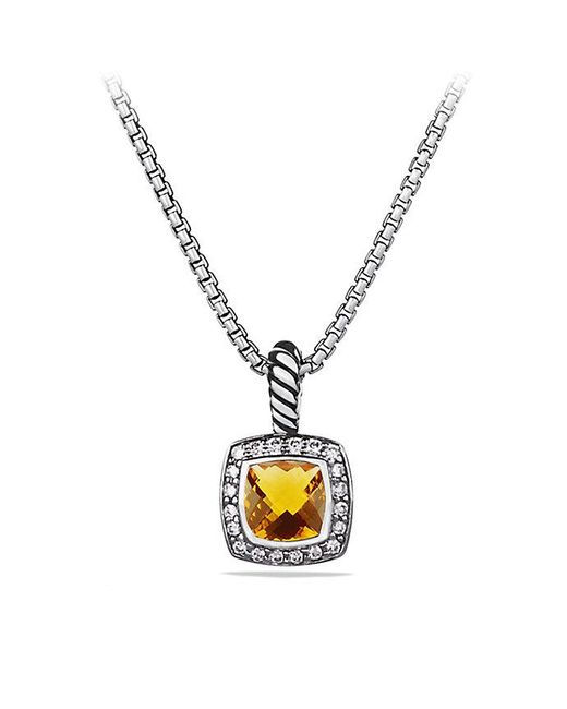 David Yurman | Metallic Petite Albion Pendant Necklace With Citrine And Diamonds | Lyst