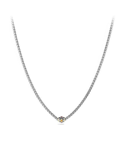 David Yurman | Metallic Renaissance Chain Necklace With Citrine, Rhodalite Garnet And 18k Gold | Lyst