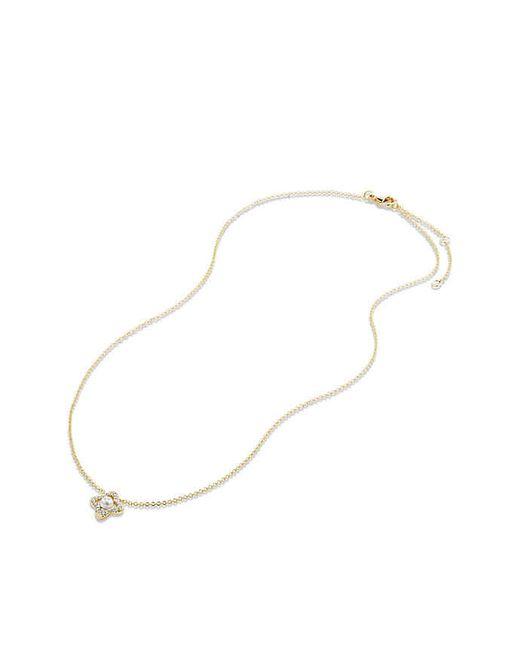David Yurman | Metallic Venetian Quatrefoil® Necklace With Pearl And Diamonds In 18k Gold | Lyst