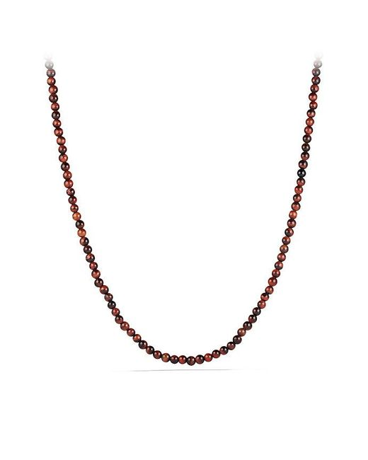 David Yurman | Spiritual Bead Necklace With Red Tiger's Eye for Men | Lyst