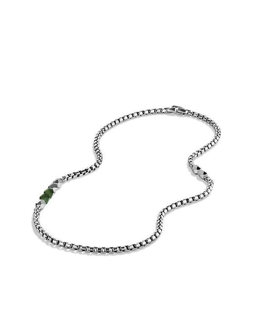 David Yurman | Metallic Faceted Metal Necklace With Jade for Men | Lyst