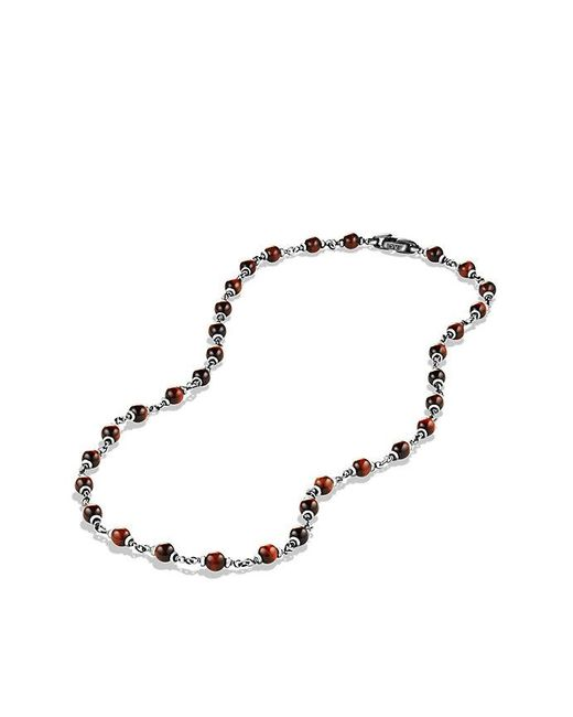 David Yurman | Spiritual Rosary Bead Necklace In Red Tiger Eye for Men | Lyst