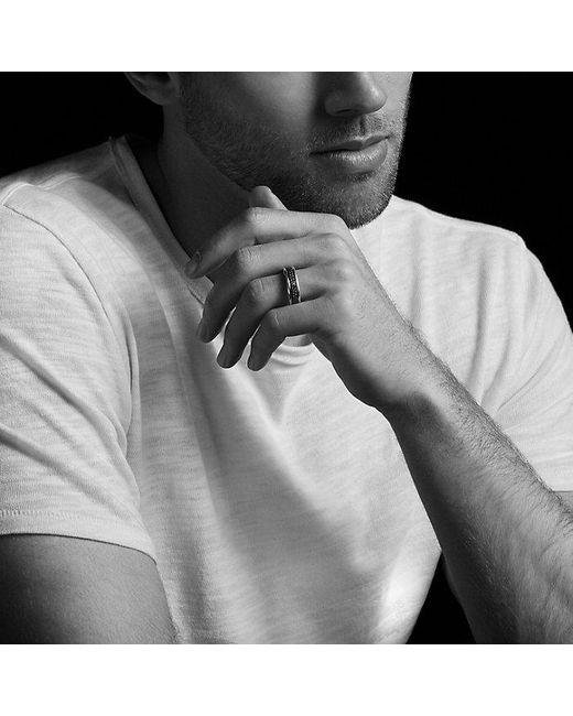 David Yurman | Streamline Two-row Band Ring With Black Diamonds for Men | Lyst