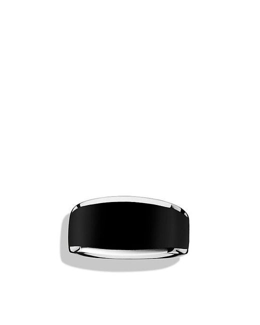 David Yurman | Exotic Stone Narrow Three-sided Ring With Black Onyx for Men | Lyst
