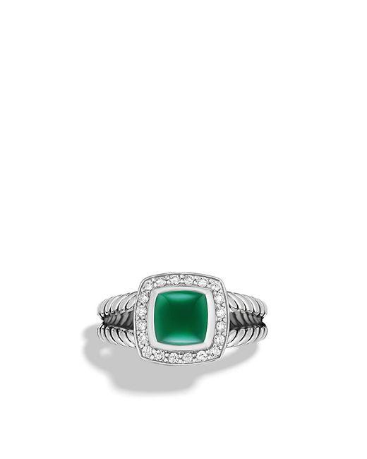 David Yurman | Metallic Petite Wheaton Ring With Garnet And Diamonds | Lyst