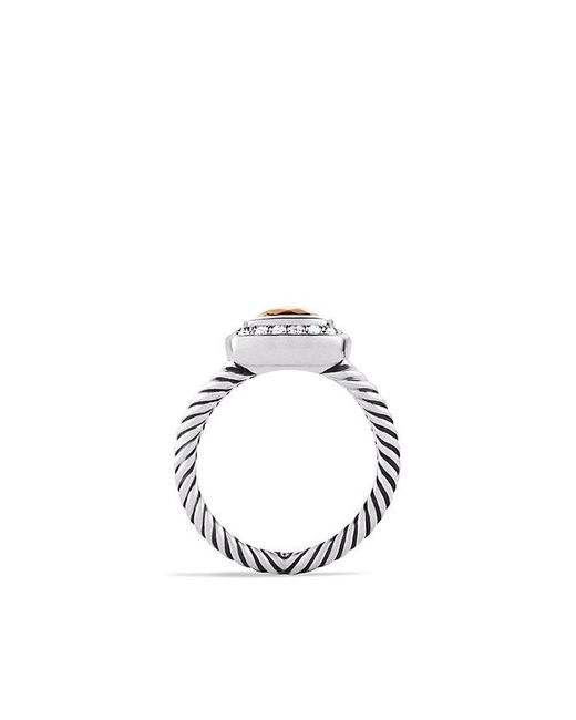 David Yurman | Metallic Petite Albion® Ring With Morganite And Diamonds | Lyst