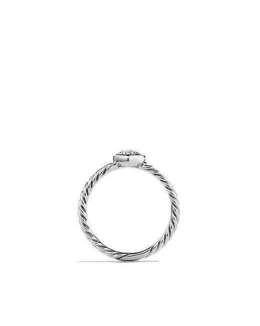 David Yurman | Metallic Petite Pave Heart Ring With Diamonds | Lyst