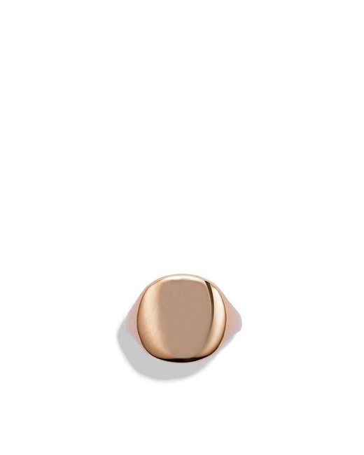 David Yurman | Dy Pinky Ring In Rose 18k Gold | Lyst