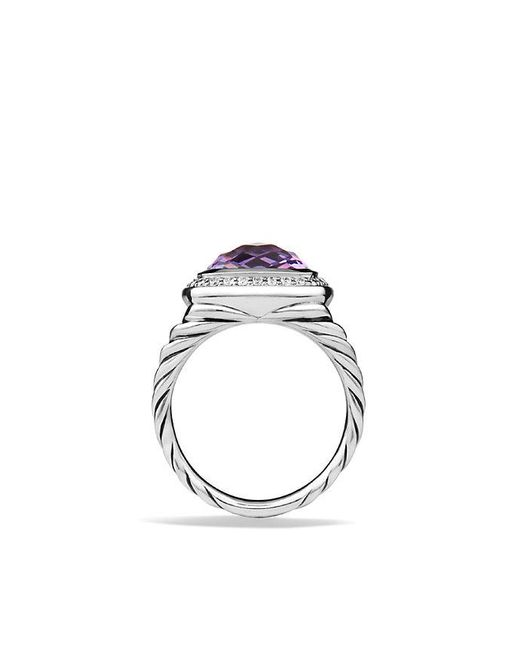 David Yurman | Purple Albion® Ring With Amethyst And Diamonds, 11mm | Lyst