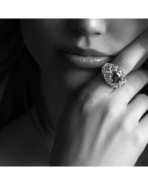 David Yurman | Metallic Venetian Quatrefoil Ring With Madeira Citrine And Diamonds In 18k Gold | Lyst