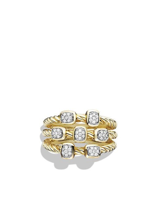 David Yurman | Metallic Confetti Ring With Diamonds In 18k Gold | Lyst