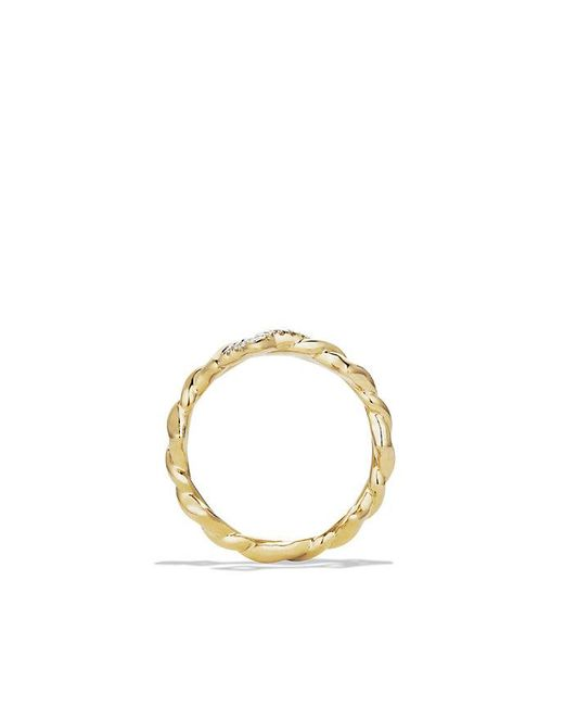 David Yurman | Metallic Venetian Ring With Diamonds In 18k Gold | Lyst