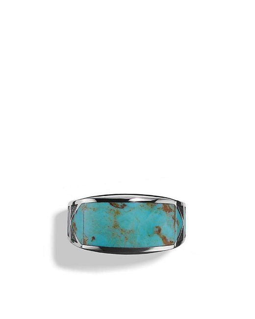 David Yurman | Blue Frontier Ring With Turquoise for Men | Lyst