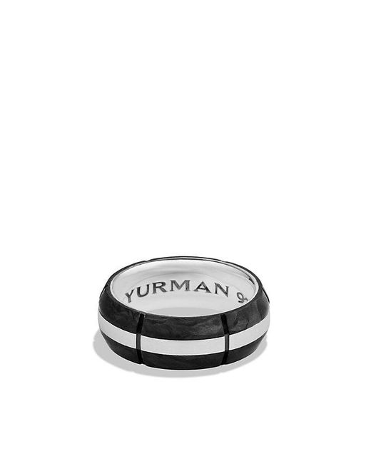 David Yurman | Black Forged Carbon Band Ring for Men | Lyst