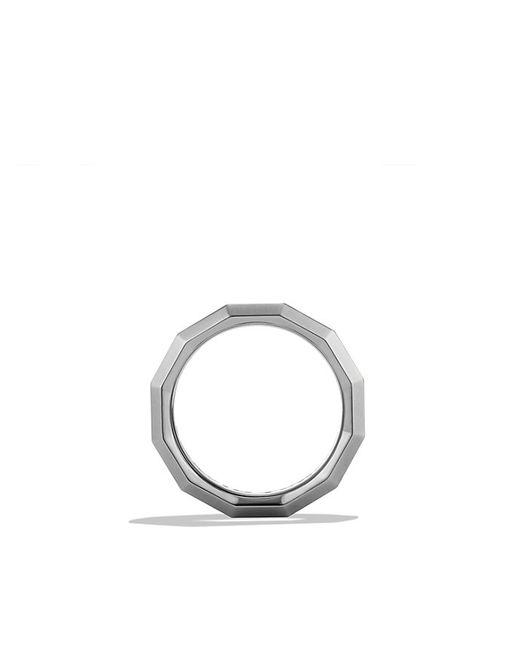 David Yurman | Dy Delaunay Band Ring In Gray Titanium, 7.5mm for Men | Lyst