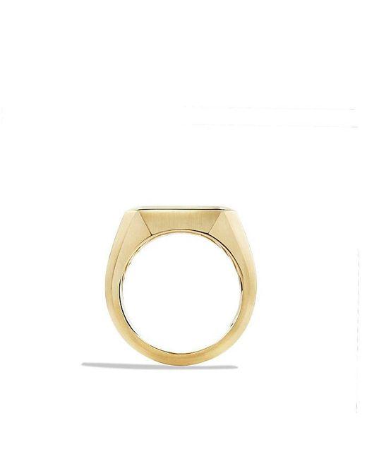 David Yurman | Metallic Heirloom Signet Ring In 18k Gold for Men | Lyst