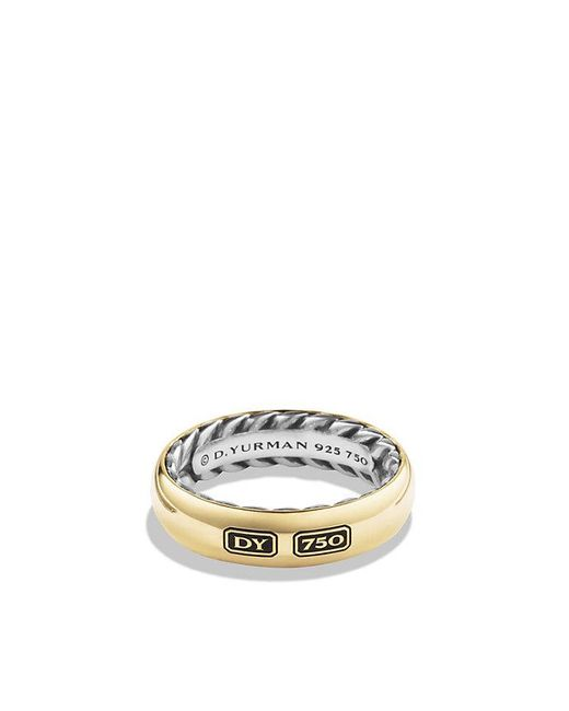 David Yurman | Metallic Streamline Band Ring With 18k Gold for Men | Lyst