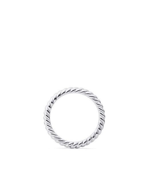David Yurman | Metallic Dy Unity Cable Wedding Band In Platinum, 2.45mm | Lyst