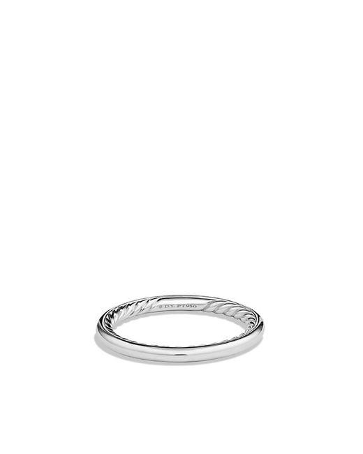 David Yurman | Metallic Dy Eden Wedding Band In Platinum, 2mm | Lyst