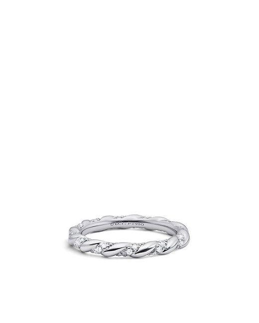 David Yurman | Metallic Dy Unity Wedding Band With Diamonds In Platinum, 2.6mm | Lyst