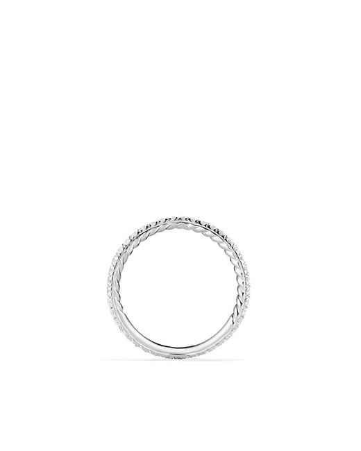 David Yurman | Metallic Dy Crossover Pave Nesting Wedding Band With Diamonds In Platnium, 1.9mm | Lyst