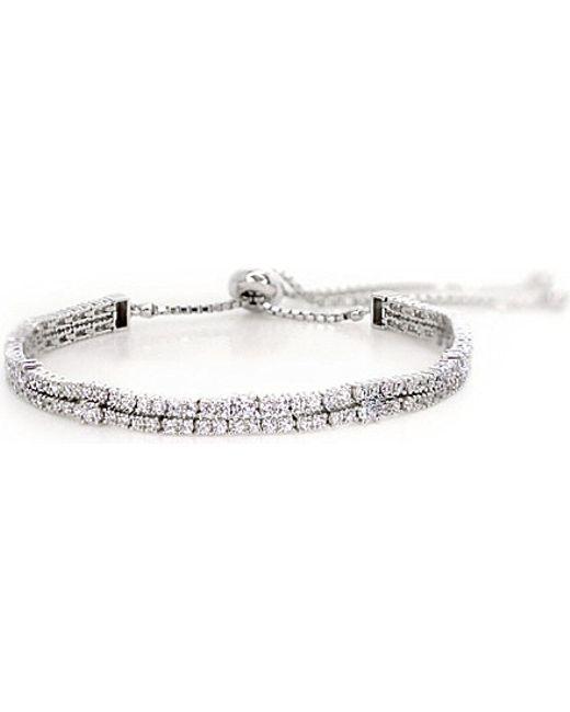 Carat* | Metallic Phoebe White Gold Millennium Bracelet | Lyst