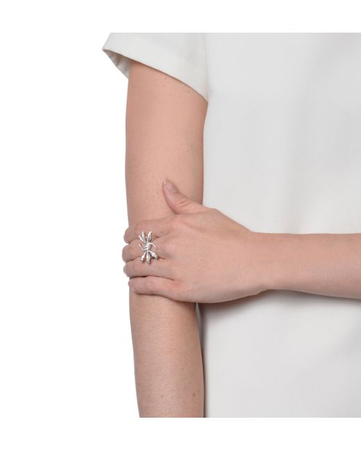 Stephen Webster | White Diamond Barbed Wire Bow Ring | Lyst