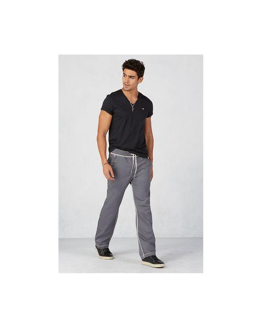 True Religion | Gray Contrast Big T Stitch Wide Leg Mens Sweatpant for Men | Lyst