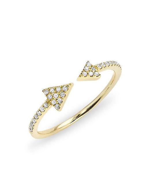 Anne Sisteron | Metallic 14kt Yellow Gold Diamond Open Double Triangle Ring | Lyst