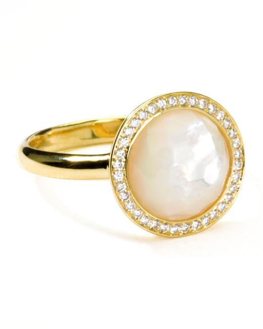 Ippolita | Metallic 18k Gold Rock Candy Mini Lollipop Diamond Mother-of-pearl Ring | Lyst