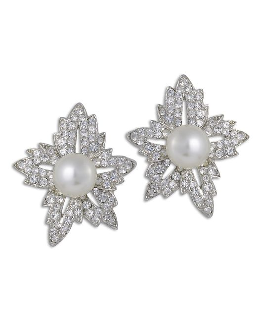 Kenneth Jay Lane | White Pearl Flower Earring | Lyst