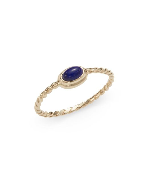Anzie | Metallic Classique Oval Lapis & 14k Yellow Gold Ring | Lyst
