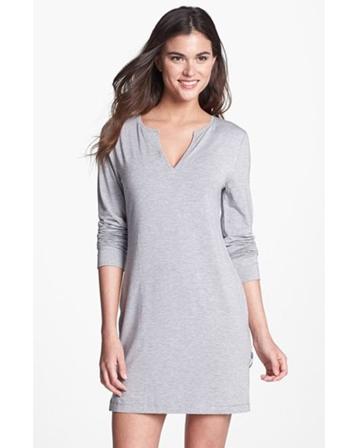 Calvin Klein | Gray 'essentials' Sleep Shirt | Lyst