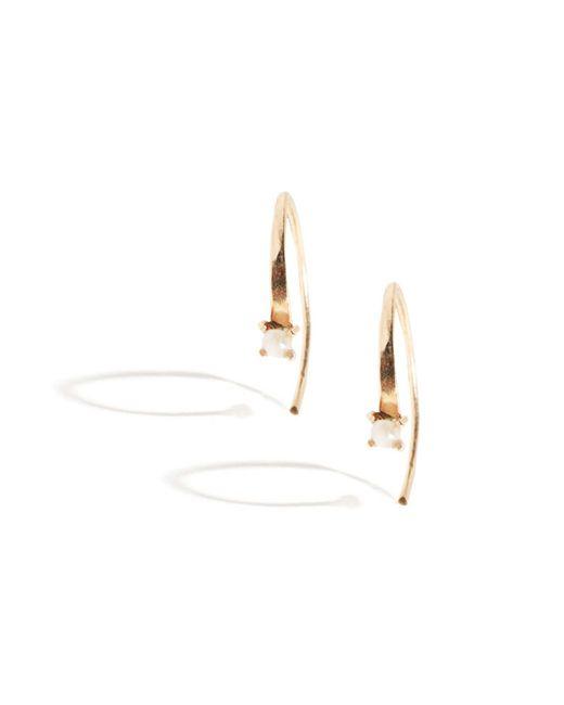 Melissa Joy Manning | Metallic Mini Wishbone Earrings With Pearl | Lyst
