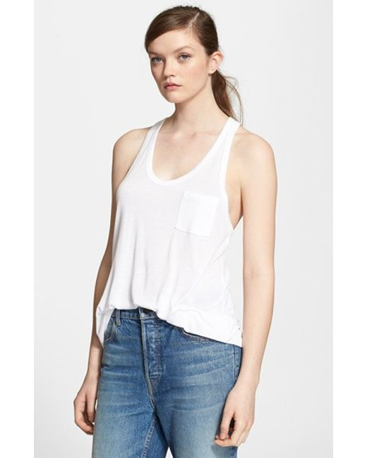 T By Alexander Wang | White Knit Tank | Lyst