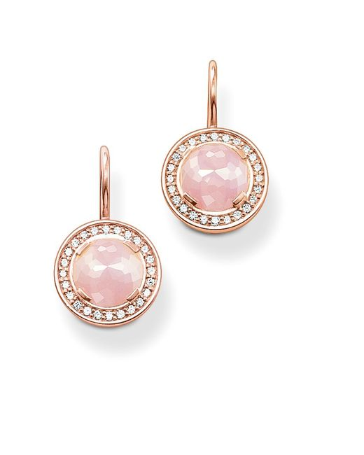Thomas Sabo | Pink Glam And Soul Earring Drops | Lyst