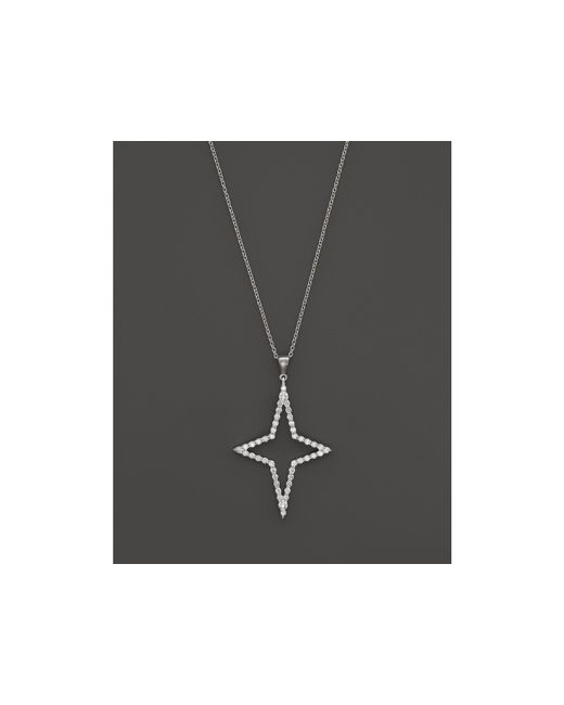 Roberto Coin | 18k White Gold Diamond Star Pendant Necklace, 18"