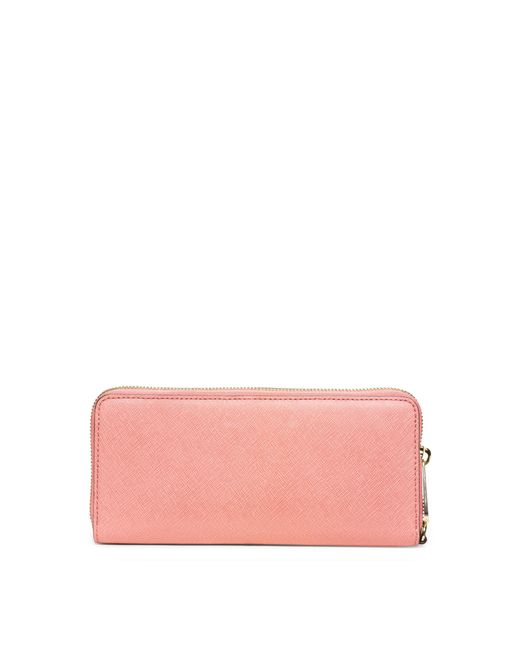 78a573bbbf3d Michael Kors Ladies Wallets In Pale Pink. Lyst - Michael Kors Jet Set  Travel Saffiano Leather Continental ...