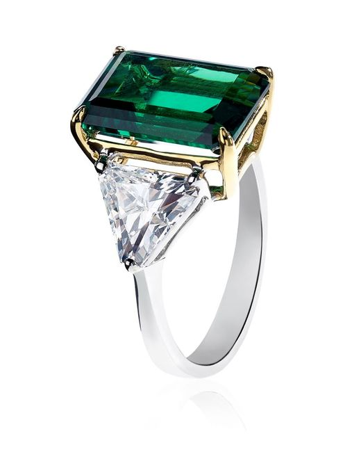 Carat*   Metallic Emerald Green Ring   Lyst