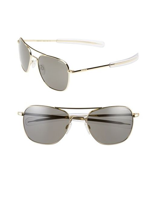 Randolph Engineering | Metallic 58mm Aviator Sunglasses | Lyst