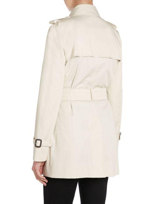 Aquascutum | Natural Jennifer Double Breasted Raincoat | Lyst