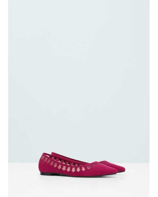 Mango Pointed Toe Flat Shoes In Purple (Fuchsia) - Save 50% | Lyst