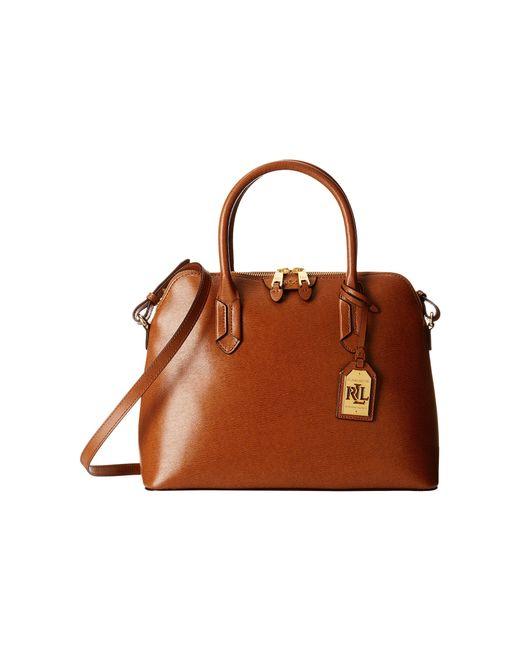 Ralph Lauren Tate Dome Satchel Laukku : Lauren by ralph tate dome satchel in brown