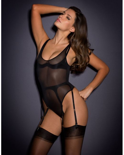 Agent Provocateur Jessa Sheer Playsuit In Black Lyst